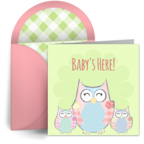 Owl Family card image