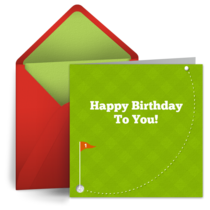 Happy Birthday Golf card image