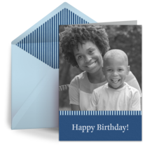 Birthday Stripe Photo card image