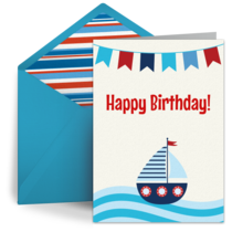 Sailboat for Kids card image