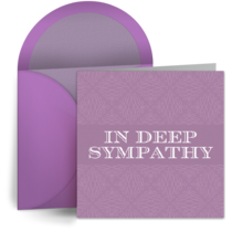 In Deep Sympathy card image