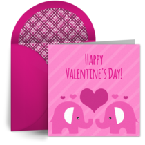 Elephants in Love card image