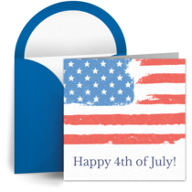 July 4th American Flags card image