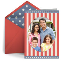 Stars and Stripes Oval card image