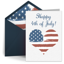 Patriotic Heart card image
