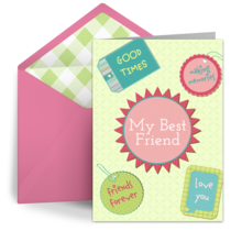 Friendship Scrapbook card image