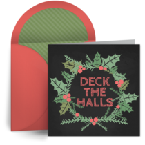 Holiday Chalkboard card image