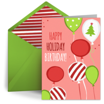 Holiday Birthday card image