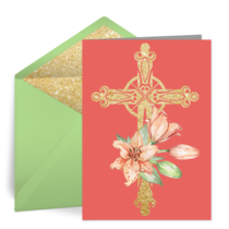 Floral Cross card image