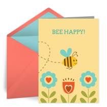Bee Happy card image