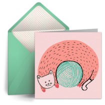 Ball of Yarn card image