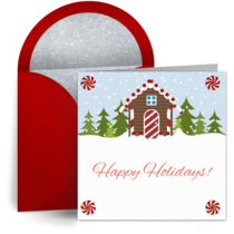 Gingerbread House card image