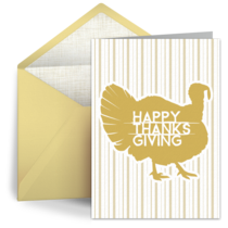 Thanksgiving Stripes card image