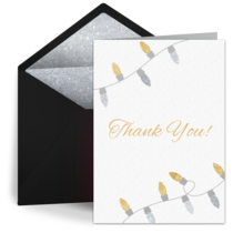 Thank You Lights card image