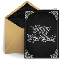 New Year Chalkboard card image
