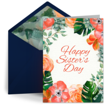 Sister's Day Bouquet card image