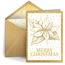 Gold Poinsettia  card image