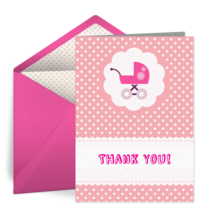 Baby Carriage Thank You card image