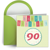 90th Birthday Banner card image