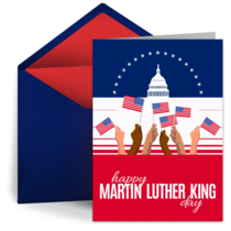 Martin Luther King Jr. Day card image