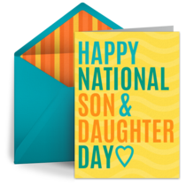 Son & Daughter Day | August 11 card image