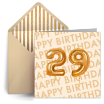 29 Balloons card image