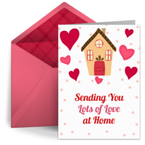 Sending Love to You Hearts card image
