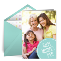 Mother's Day Photo Dot card image