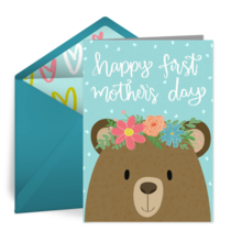 First Mother's Day card image