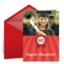 Red Grad Photo card image