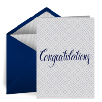 Simple Grad Congratulations card image