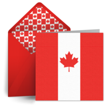 Canada Day Flag card image