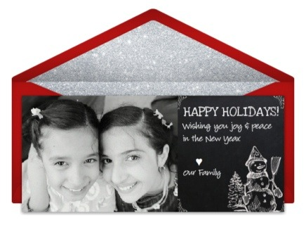 Chalkboard photo card design