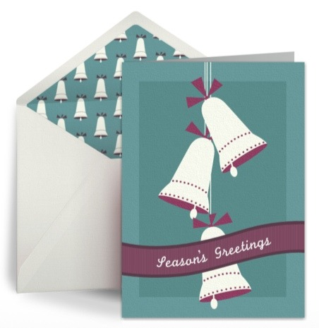Free modern retro holiday card design