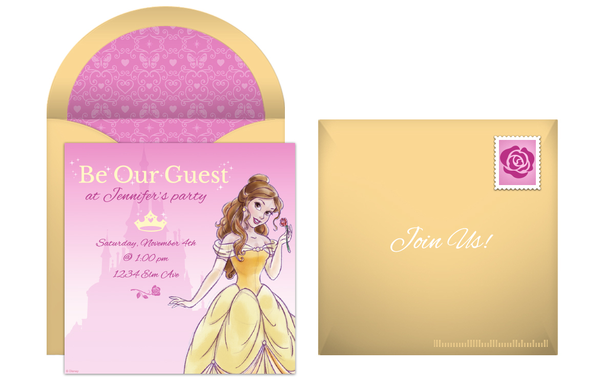 Free Princess Belle Online Invitations