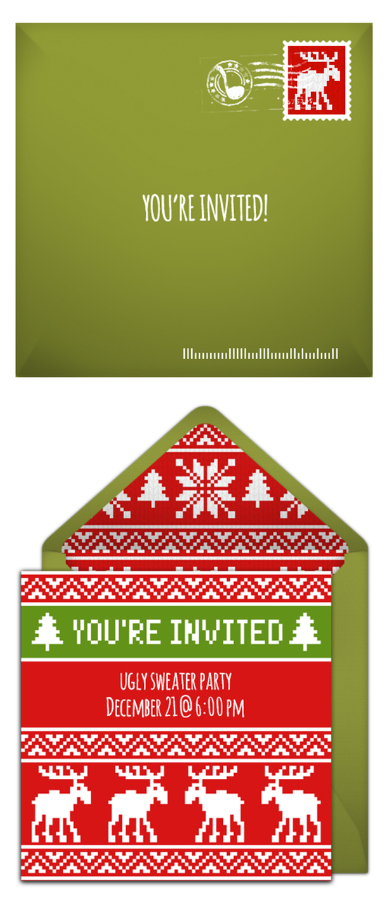 Free Ugly Sweater invitations