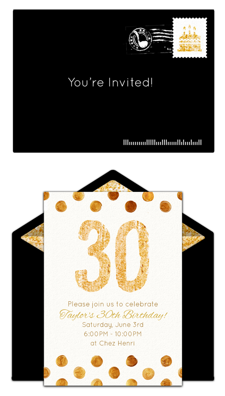 Free 30th Birthday Invitations