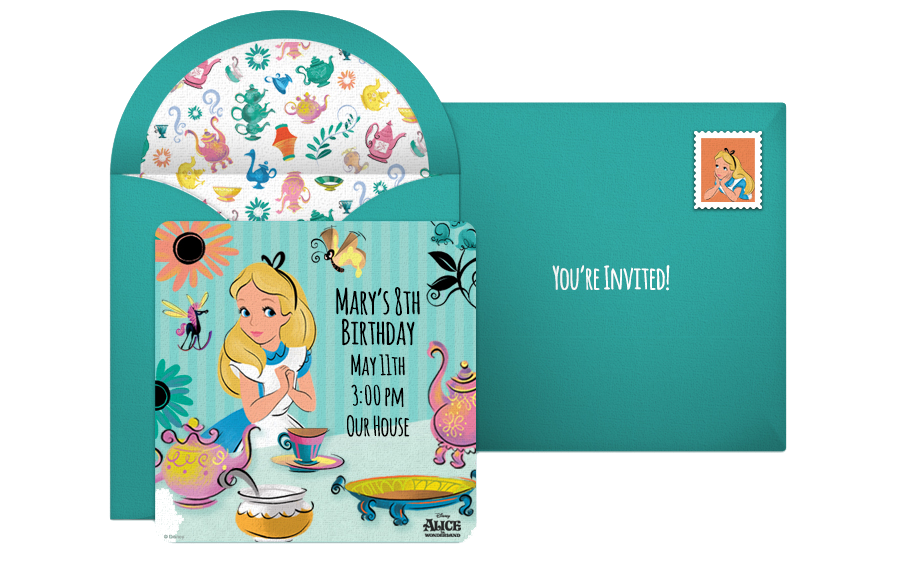 Free Alice In Wonderland Online Invitations