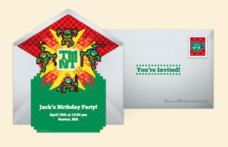 Free Ninja Turtles Invites, Ninja Turtles Online ...