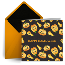 Halloween Collage card image