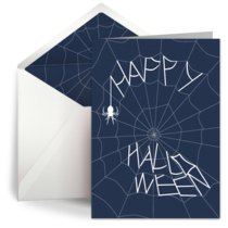 Halloween Spider Web card image