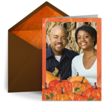 Pumpkin Patch Photo card image