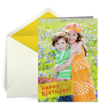 Kids Birthday Full Photo card image