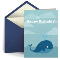 Birthday Whale card image
