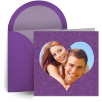 Engagement Purple Photo Frame card image