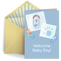 Scrapbook Boy card image
