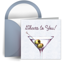 Birthday for Him Martini card image
