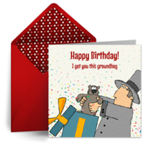 Groundhog Day Birthday card image