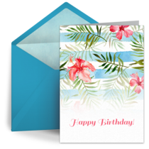 Birthday Floral Pattern card image