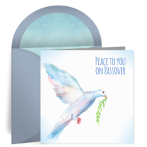 Passover Dove card image